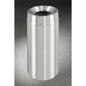 Glaro 12 Gallon Waste Receptacle w/Funnel Top, Satin Aluminum - F1232SA