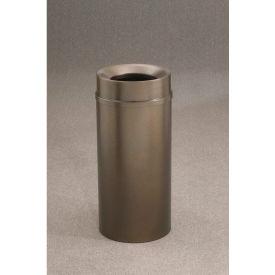 Glaro 12 Gallon Waste Receptacle w/Funnel Top, Bronze Vein - F1251-BV-BV