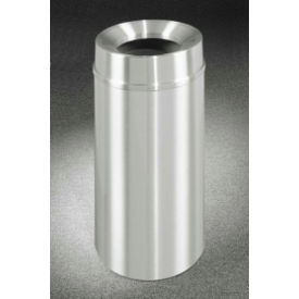 Glaro 16 Gallon Waste Receptacle w/Funnel Top, Satin Aluminum - F1533SA