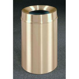 Glaro 33 Gallon Waste Receptacle w/Funnel Top, Satin Brass - F2035BE