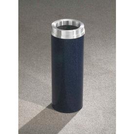 Glaro 6 Gallon Waste Receptacle w/Funnel Top, Satin Black/Satin Aluminum Lid - F924-BK-SA
