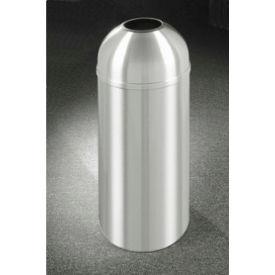 Glaro 16 Gallon Waste Receptacle w/Open Dome Top, Satin Aluminum - T1536SA