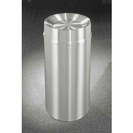 Glaro 33 Gallon Waste Receptacle w/Tip Action Top, Satin Aluminum - TA2035SA