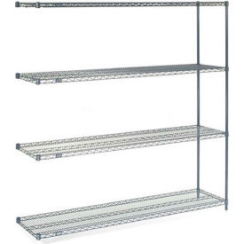 "Nexelon Wire Shelving Add-On, 60""W X 14""D X 63""H"