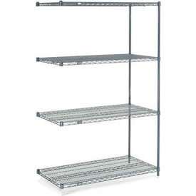 "Nexelon Wire Shelving Add-On, 42""W X 21""D X 63""H"