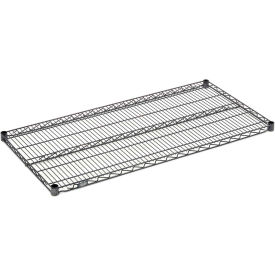"Nexel S2430N Nexelon Wire Shelf 30""W x 24""D with Clips"