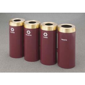 Glaro Value Recyclepro 4 Unit Desert Stone, (4) 23 Gallon Bottles/Paper/Waste/Cans - 1542-4