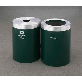 Glaro Value Recyclepro 2 Unit Burgundy, (2) 41 Gallon Bottles/Cans/Waste - 2042-2