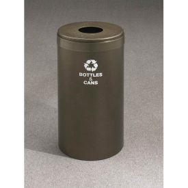 Glaro Value Recyclepro Single Stream Burgundy/Satin Aluminum, 15 Gallon Bottles/Cans -B-1242