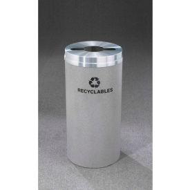 Glaro Recyclepro Single Stream Satin Black/Satin Aluminum, 16 Gallon Mixed Recycle - M-1532