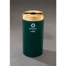 Glaro Value Recyclepro Single Stream Burgundy/Satin Brass, 23 Gallon Mixed Recycle - M-1542