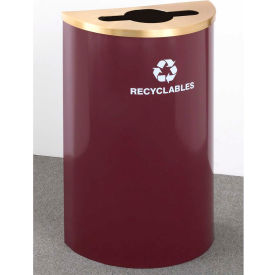 Glaro Value Recyclepro Single Stream Half Round Gloss Chrome, 16 Gallon Mixed Recycle - M1899V