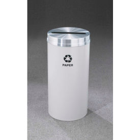 Glaro Recyclepro Single Stream Burgundy/Satin Brass, 12 Gallon Paper - P-1232
