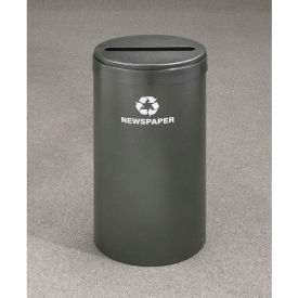 Glaro Value Recyclepro Single Stream Satin Black, 15 Gallon Paper - P-1242