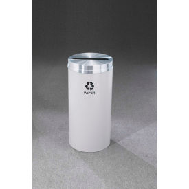 Glaro Recyclepro Single Stream Satin Black/Satin Aluminum, 16 Gallon Paper - P-1532