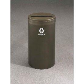 Glaro Value Recyclepro Single Stream Hunter Green, 23 Gallon Paper - P-1542