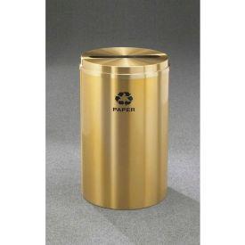 Glaro Recyclepro Single Stream Satin Brass, 33 Gallon Paper - P-2032-BE