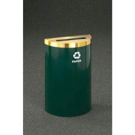 Glaro Value Recyclepro Single Stream Half Round Burgundy/Satin Brass, 16 Gallon Paper - P1899V