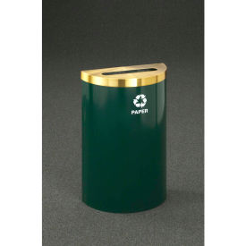 Glaro Value Recyclepro Single Stream Half Round Silver Vein, 16 Gallon Paper - P1899V