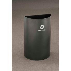 Glaro Recycling Container Half Round Open Top Midnight Blue, 16 Gallon - RO1899