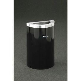 Glaro Value Recyclepro Single Stream Half Round Satin Black/Satin Brass, 16 Gallon Trash - T1899V