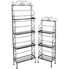 "Light Duty Three Shelf Rack - No Tips 18""W (Aged Iron)"