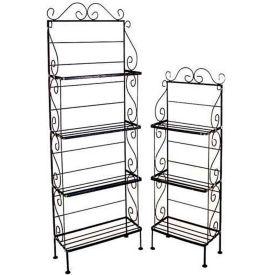"Light Duty Three Shelf Rack - No Tips 18""W (Aged Iron)"