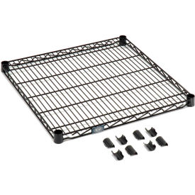 """Nexel S1824B Black Epoxy Wire Shelf 24""""W x 18""""D with Clips"""