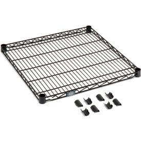 """Nexel S2472B Black Epoxy Wire Shelf 72""""W x 24""""D with Clips"""