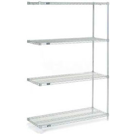 "Nexelate Wire Shelving Add-On, 60""W X 14""D X 54""H"