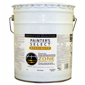 Painter's Select Oil Zone Marking Paint, Flat Finish, Yellow, 5-Gallon - 109564