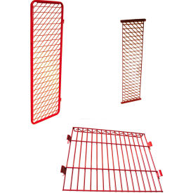 """Security Options of Top Shelf, Lockable Door for Each 20"""" Red Rack™ Wall Mounted Section, Red"""