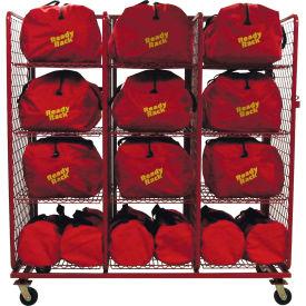 """S.O.S. Rack™ Gear Bag Storage, 76""""W x 32""""D x 81""""H, Red"""