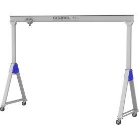Gorbel® Aluminum Gantry Crane, 8' Span & 9'-12' Adjustable Height, 1000 Lb. Capacity
