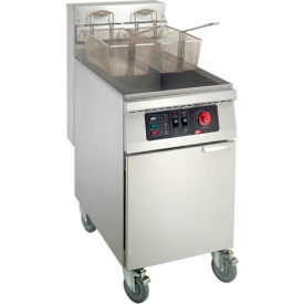 Floor Model Electric Fryer - 65 lbs., Stainless Steel Tank & Body, 208V