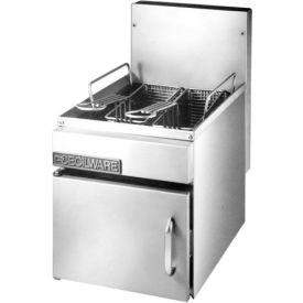 Countertop Gas Fryer, 16 lb, Nat Gas