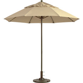 Grosfillex® Windmaster 9' Fiberglass Outdoor Umbrella - Khaki