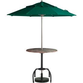Grosfillex Windmaster 9' Fiberglass Outdoor Umbrella Forest Green by