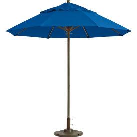 Grosfillex® Windmaster 9' Fiberglass Outdoor Umbrella - Pacific Blue