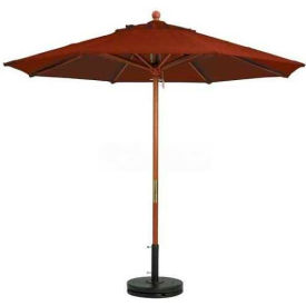 Grosfillex® 9' Wooden Market Outdoor Umbrella - Sand