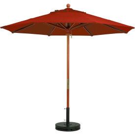 Grosfillex® 9' Wooden Market Outdoor Umbrella - Terra Cotta