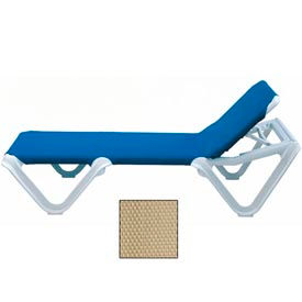 Grosfillex® Nautical Sling Chaise - Khaki (Sold in Pk. Qty 12) - Pkg Qty 12