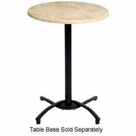 """Grosfillex® 30"""" Round Outdoor Table Top Only No Umbrella Hole - Boulder"""