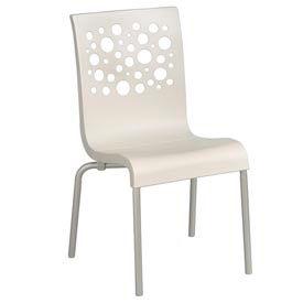 Grosfillex® Tempo Chair, White / White 4 Pack - Pkg Qty 4