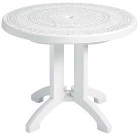 """Grosfillex® Havana 38"""" Round Outdoor Table - White"""