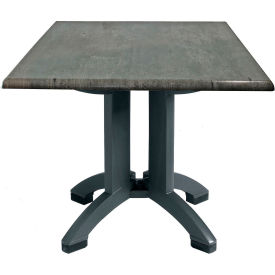 "Grosfillex® 32"" Square Outdoor Table - Granite Décor - Atlanta Series"