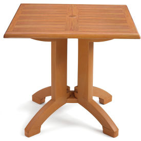 "Grosfillex® Winston 32"" Square Outdoor  Table - Teak"