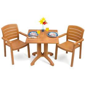 "Grosfillex® Winston 36"" Square Outdoor  Table - Teak"