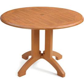 "Grosfillex® Winston 42"" Round Outdoor  Table - Teak"