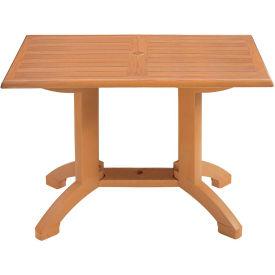 "Grosfillex® Winston 48"" x 32"" Outdoor Table - Teak"